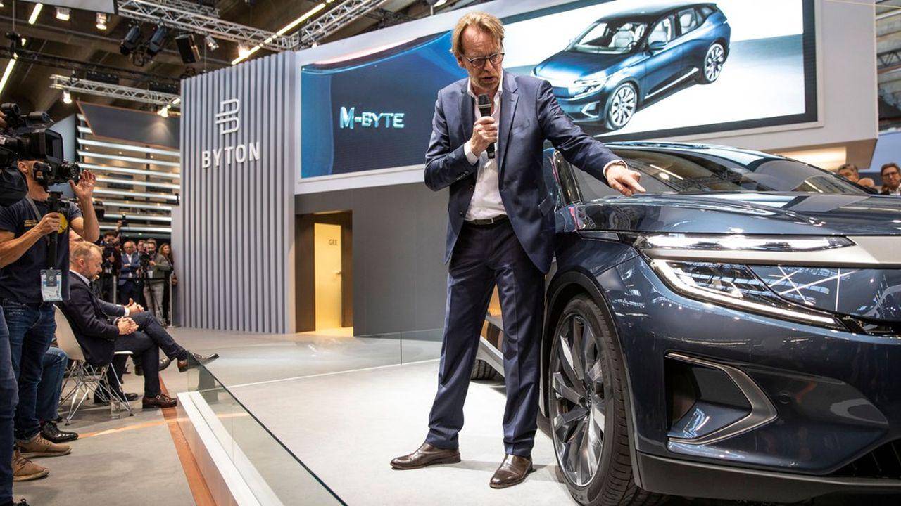 Benoît Jacob a présenté en septembre à Francfort la version de série de la M-Byte, le SUV 100% électrique de Byton.