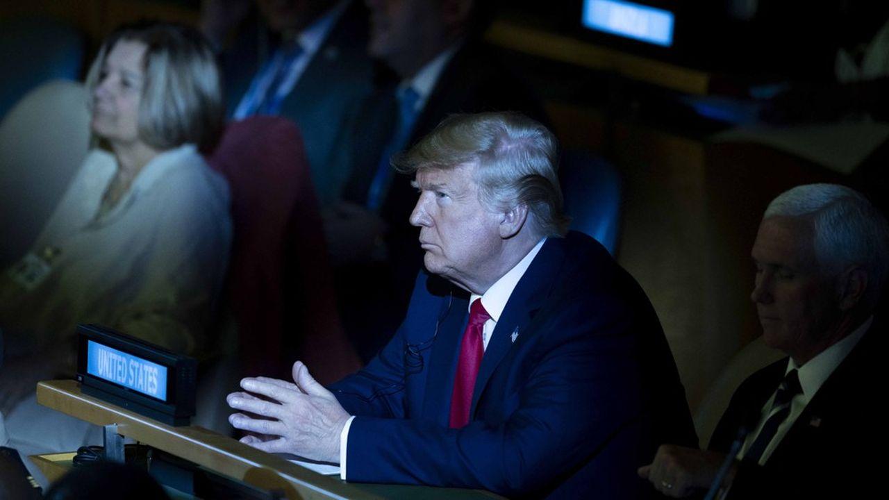 Le président des Etats-Unis, Donald Trump, au Sommet pour le climat de l'ONU, le 23septembre dernier.
