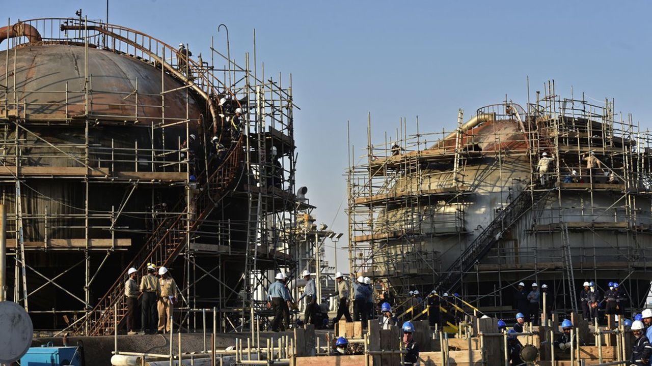 Le site Aramco d'Abqaiq, en Arabie saoudite, en septembre.