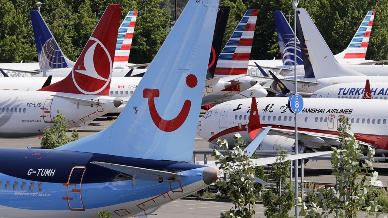 Des centaines de Boeing 737 Max sont cloués au sol à travers le mondedepuis la mi-mars.