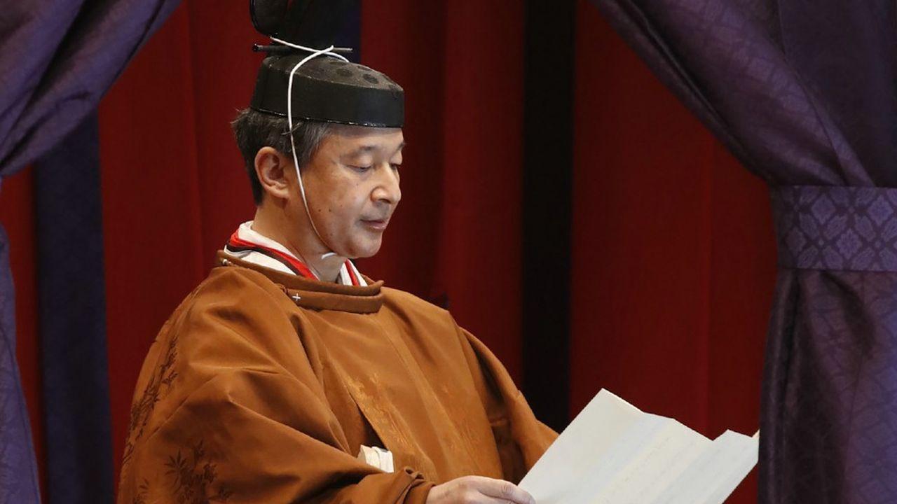 Ce mardi matin, l'empereur Naruhito a officiellement proclamé son intronisation
