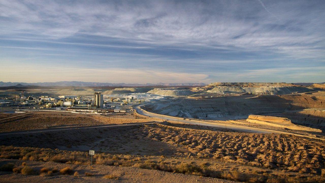 Le site de Rio Tinto à Boron (Californie) dans le désert de Mojave.