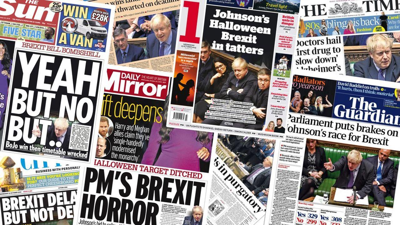 Tonalité funèbre, plus ou moins sombre, à la une des quotidiens britanniques ce mercredi.