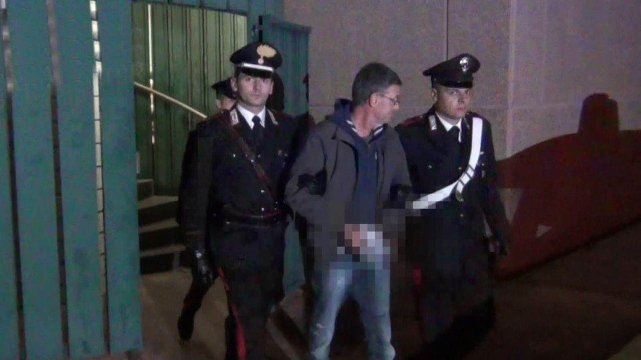 L'arrestation de Massimo Carminati à Rome.