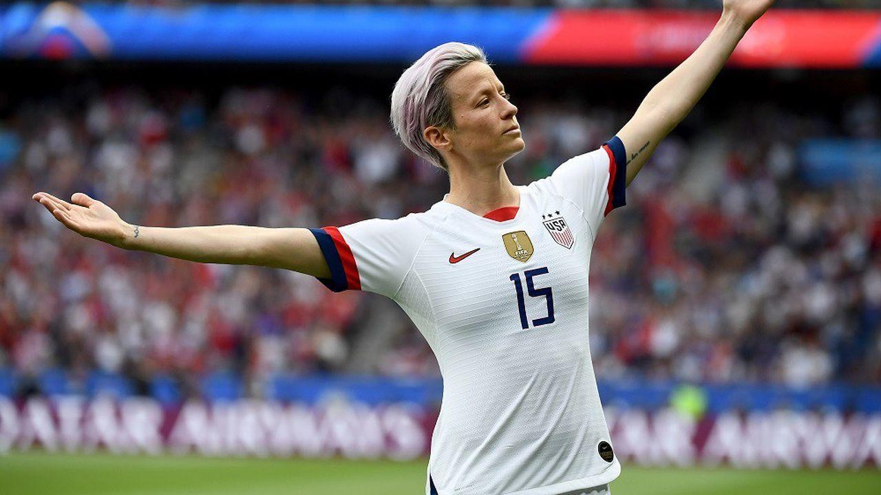 La star américaine Megan Rapinoe, capitaine de l'équipe féminine de foot américaine, championne du monde.