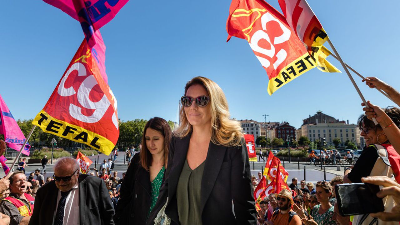 Laura Pfeiffer à son arrivée à la cour d'appel de Lyon le 12 September dernier.