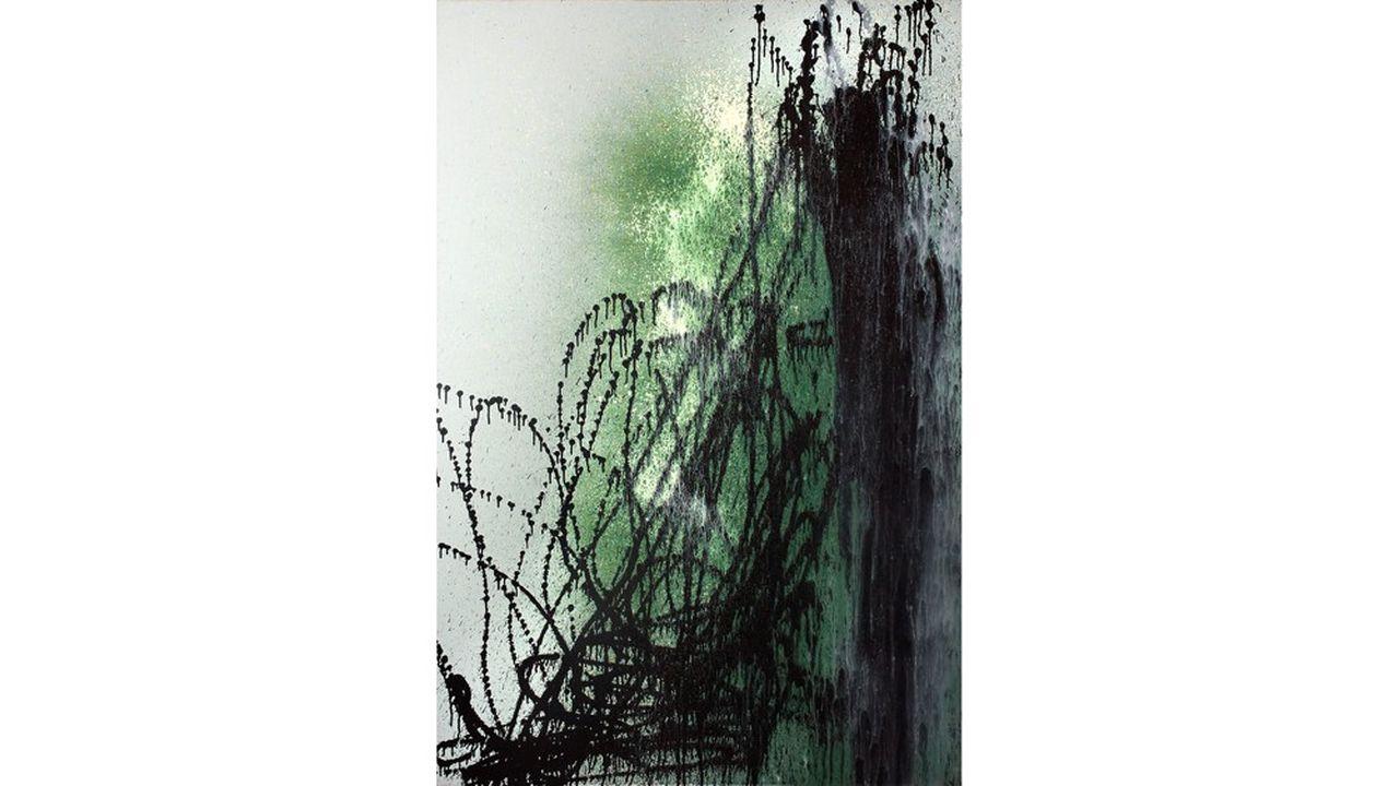 Hans HARTUNG. Acrylique sur toile 1989