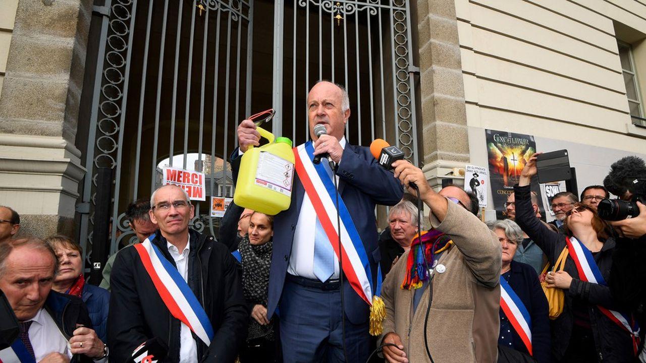 Le maire de Langouët, Daniel Cueff, lors de l'audience sur le fond le 14octobre à Rennes.