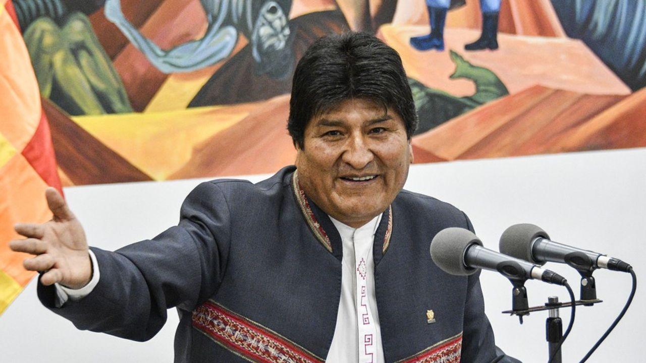Selon le décompte officiel, plus de 10 points d'écart séparent le score de Morales et celui de son rival Mesa.
