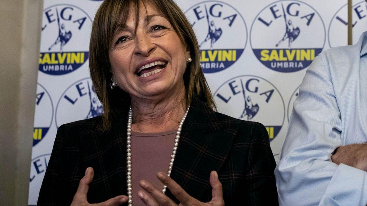 Donatella Tesei, membre de la Ligue de Salvini et soutenue par Forza Italia de Silvio Berlusconi et les néofascistes de Fratelli Italia a triomphé, dimanche, avec près de 60% des voix, lors des élections régionales en Ombrie.