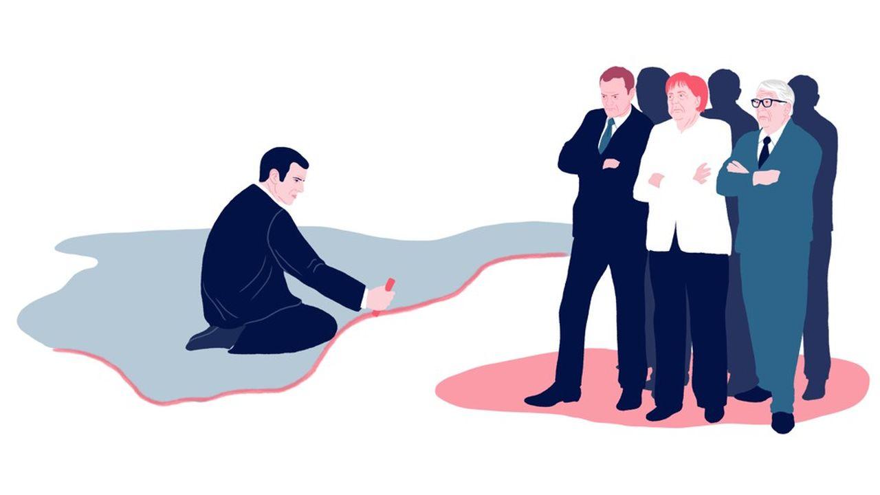 La vision française d'une Europe plus homogène n'est pas partagée autour de la table du Conseil européen.