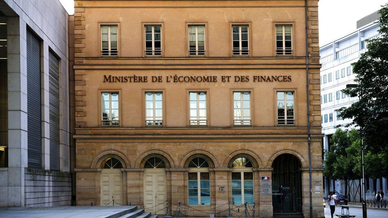 Le ministère de l'Economie et des Finances, à Paris.