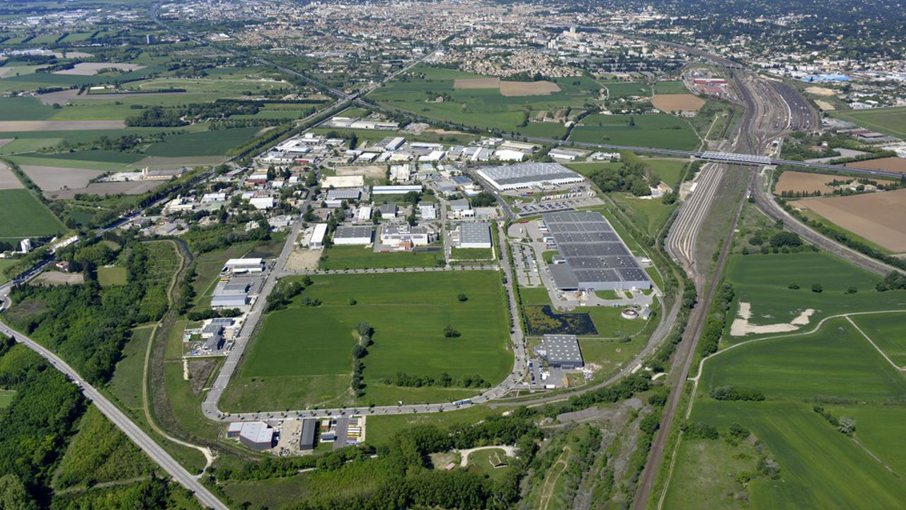 La zone d'activité de Grézan.