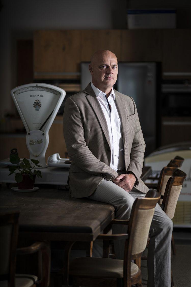 Jaap Korteweg, patron de The Vegetarian Butcher, au siège de l'entreprise, à Breda (Pays-Bas).
