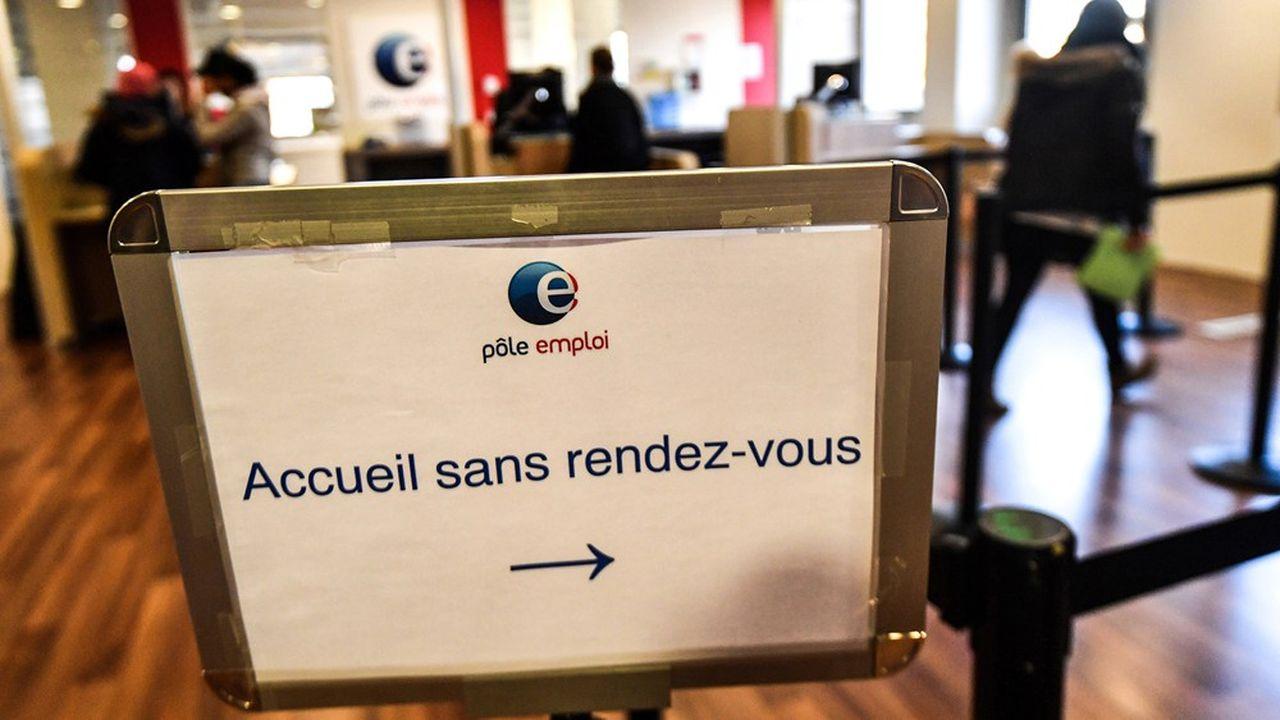 Une agence de Pôle emploi à Montpellier.