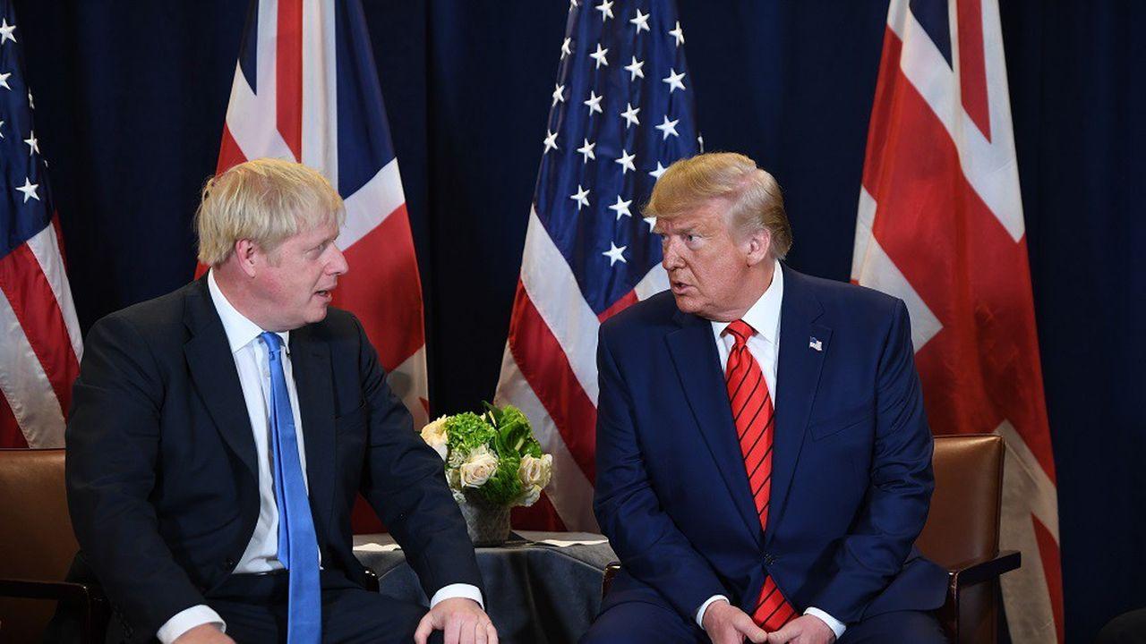 Boris Johnson et Donald Trump lors de leur rencontre à New York le 24septembre en marge de l'Assemblée générale des Nations Unies.
