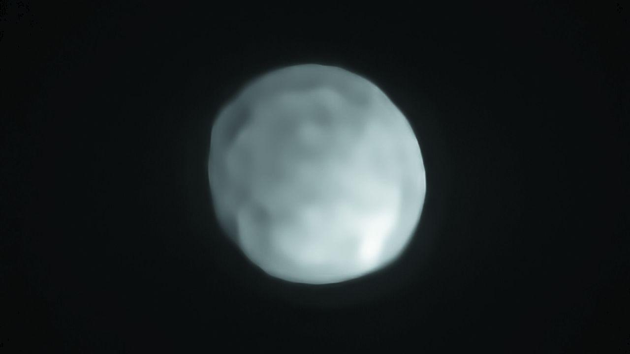 Hygiea, ici photographiée par le VLT, serait la plus petite planète naine du Système solaire, d'un diamètre de430km.