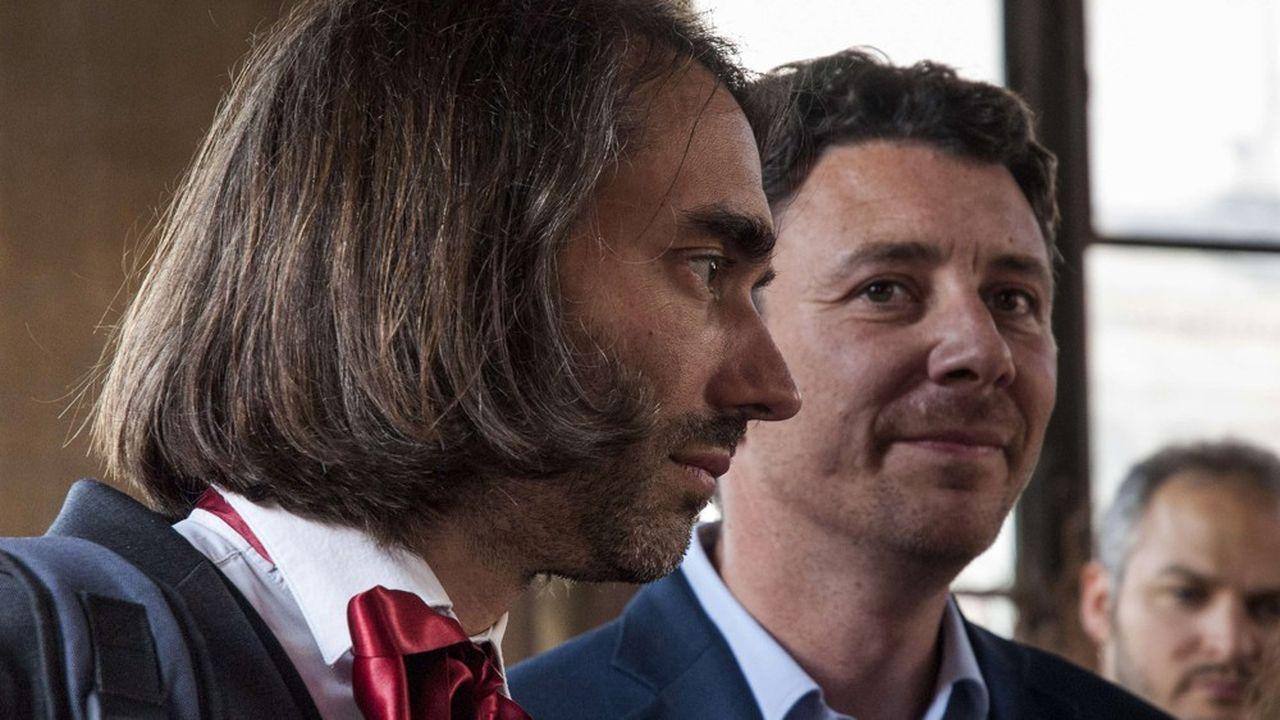 Cédric Villani (à gauche) et Benjamin Griveaux se sont lancés dans un duel sans merci pour Paris. Pour l'instant, aucun débouché ne se fait jour