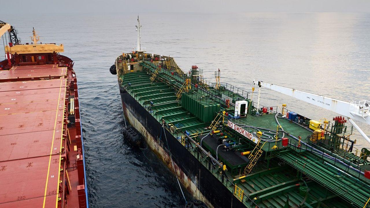 Un tanker au large de l'Angola.