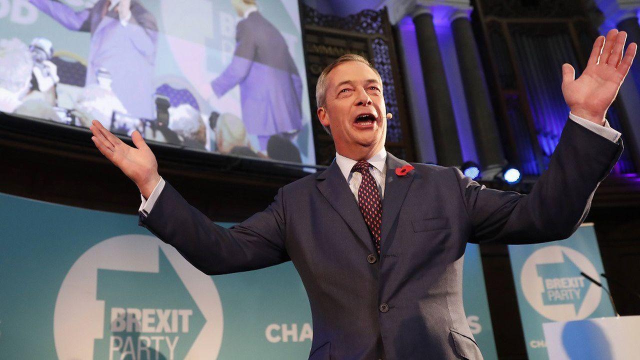 Le leader du Parti du Brexit a présenté ce lundi ses candidats pour l'élection générale du 12décembre.