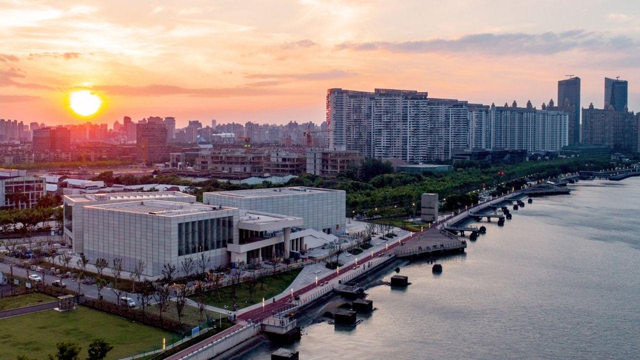Le Centre Pompidou Shanghai sur le West Bund