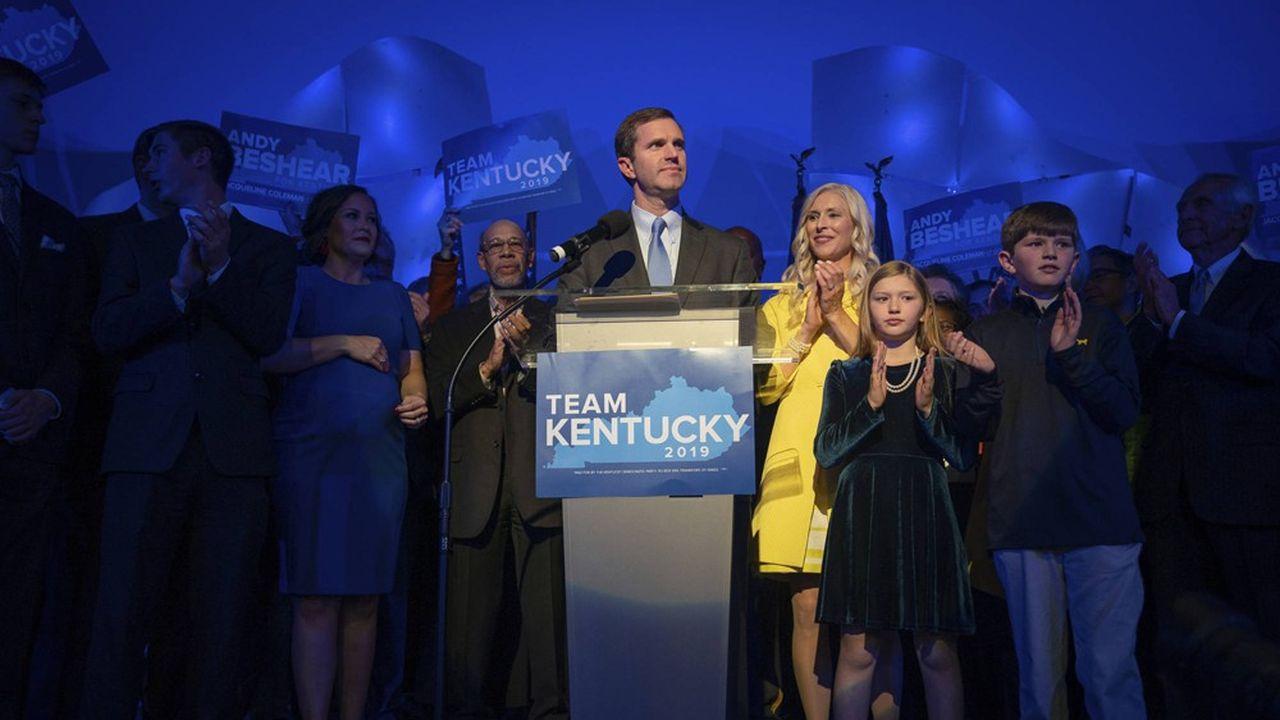 Dans le Kentucky, le démocrate Andy Beshear, ancien procureur de l'Etat, est arrivé en tête avec 49,2% des voix, contre le gouverneur républicain sortant, Matt Bevin (48,8%).
