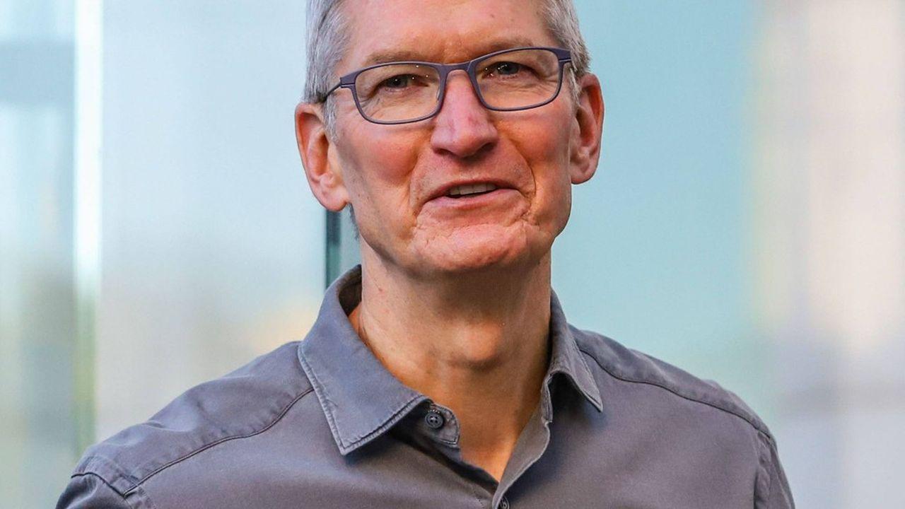 Tim Cook dirige Apple depuis le décès de son fondateur, Steve Jobs, en2011.