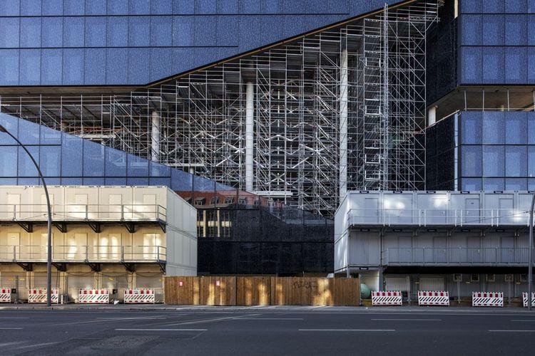 Axel Springer SE : le futur nouveau complexe du groupe de presse Axel Springer, conçu par l'architecte Rem Koolhaas, en face du siège actuel.