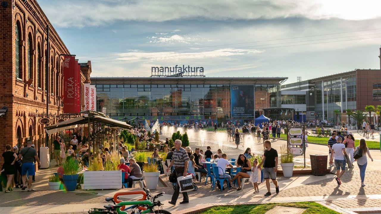 Le centre commercial Manufaktura à Lodz, Pologne