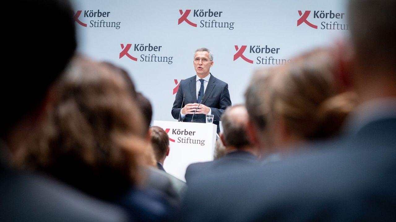 Le secrétaire général de l'OTAN Jens Stoltenberg, lors d'un discours à la fondation allemandeKoerber à Berlin, a affirmé que l'Alliance Atlantique restait forte même si les pays membres avaient parfois des différences d'appréciation.