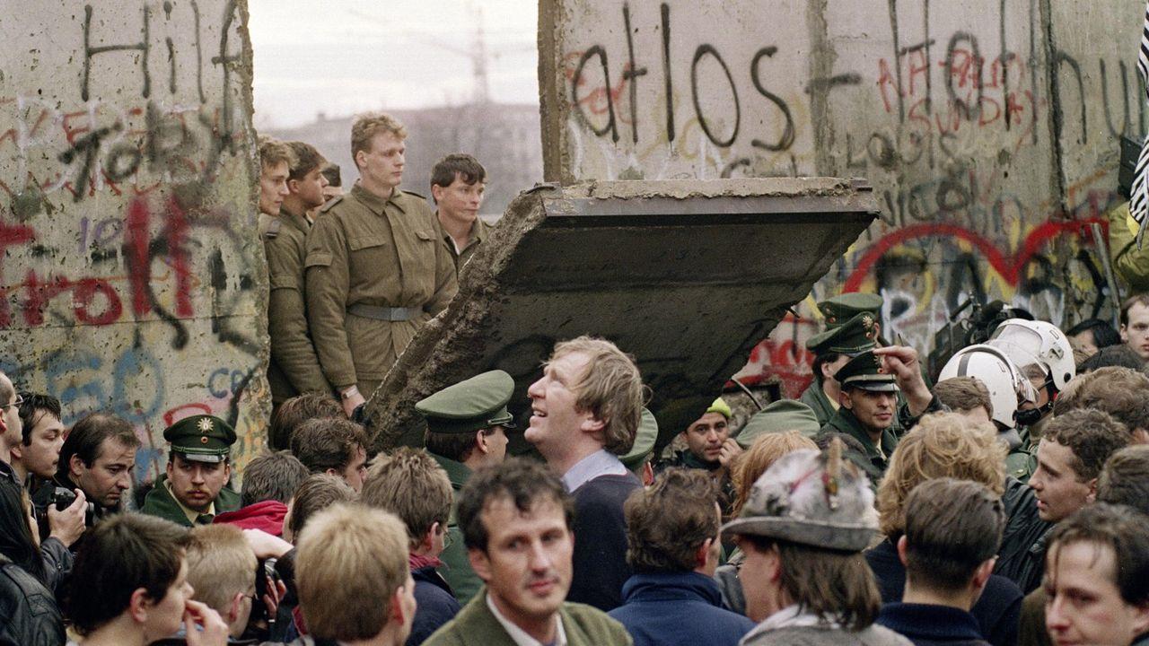 Le mur de Berlin le 11 Novembre 1989.
