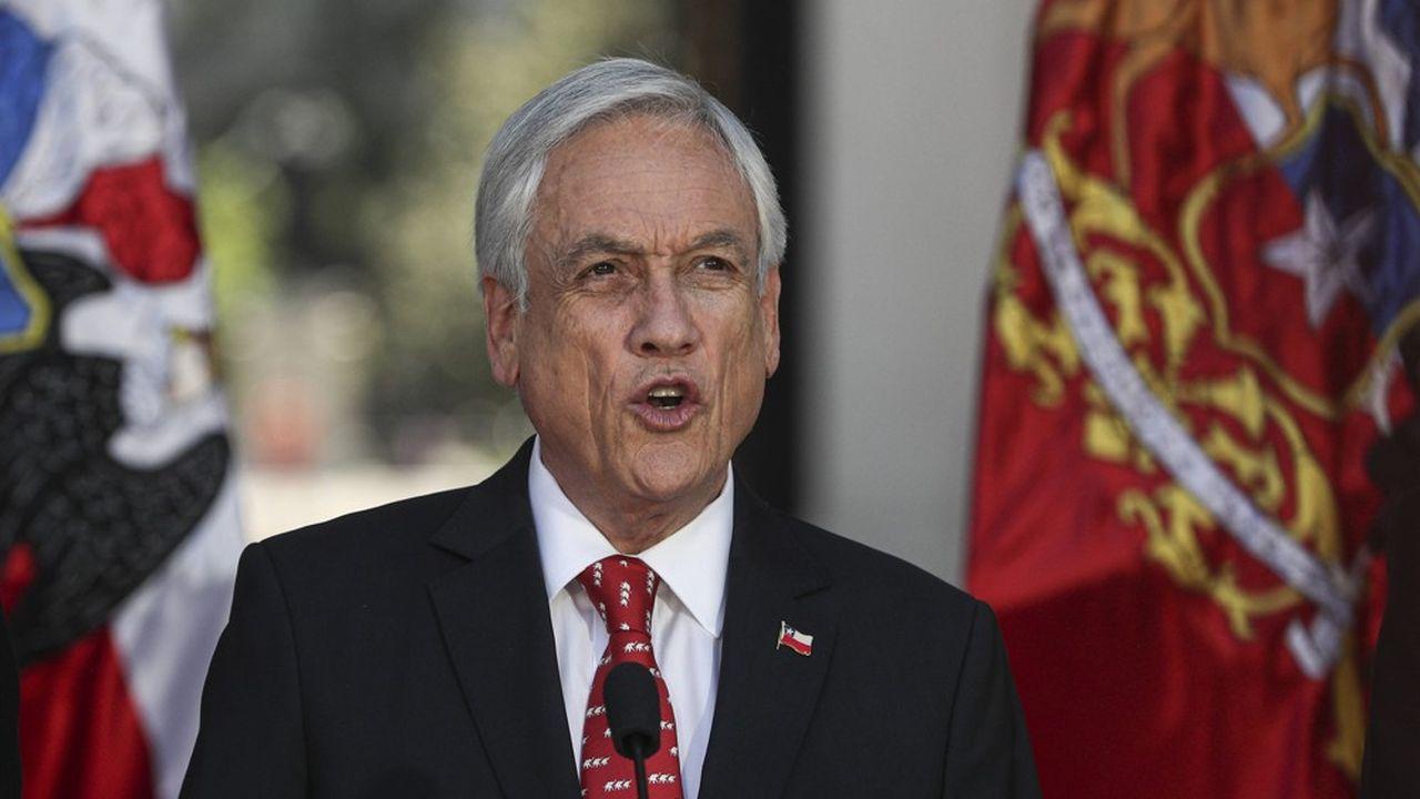 Le président chilien, Sebastian Pinera, est sous pression depuis plusieurs semaines.