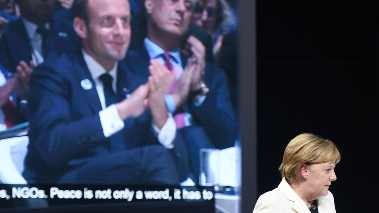La chancelièreAngela Merkel avait ouvert la première session du Forum sur la paix de Paris en 2018.