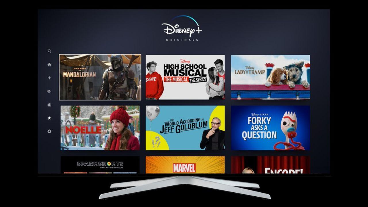Disney +a adopté un design proche de celui de Netflix, avec quelques adaptations.