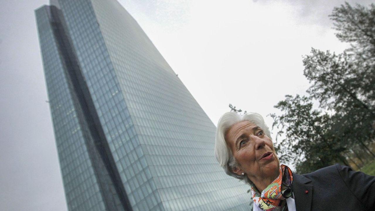 La nouvelle présidente de la BCE, Christine Lagarde, devant le siège de l'institution, à Francfort, le 4novembre.