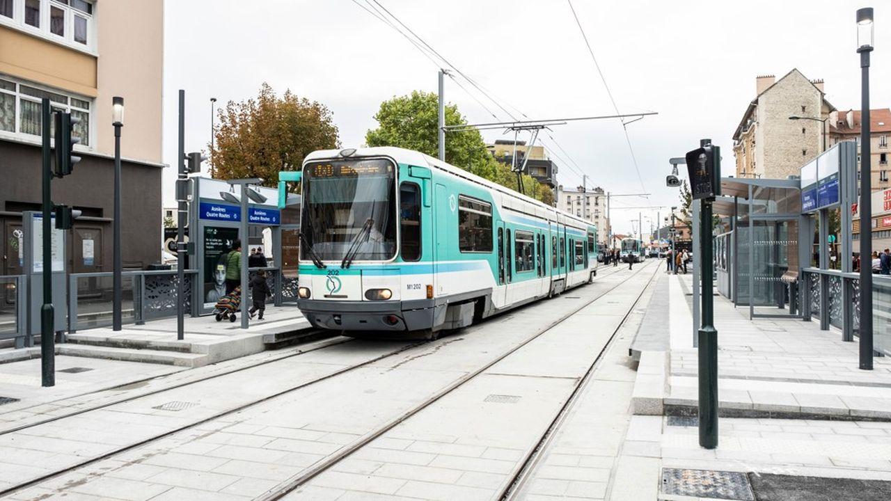 Le prolongement du tramway T1 a été inauguré samedi 12 octobre 2019 .