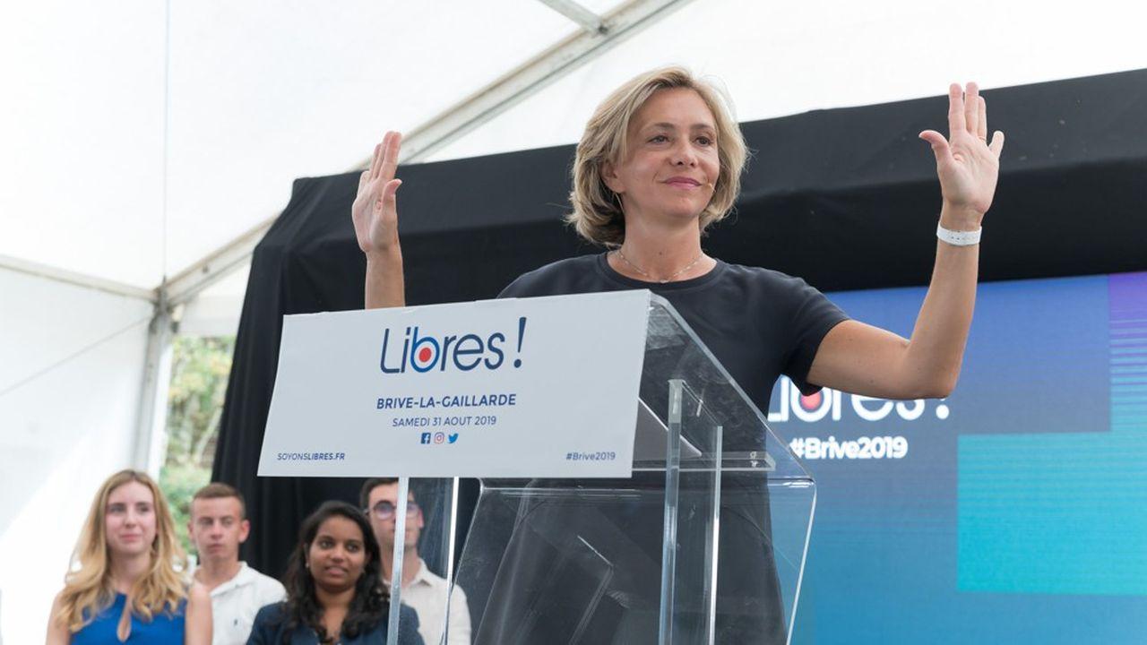 Valérie Pécresse fin août, lors de la rentrée de son mouvement, Libres!, à Brive-la-Gaillarde.