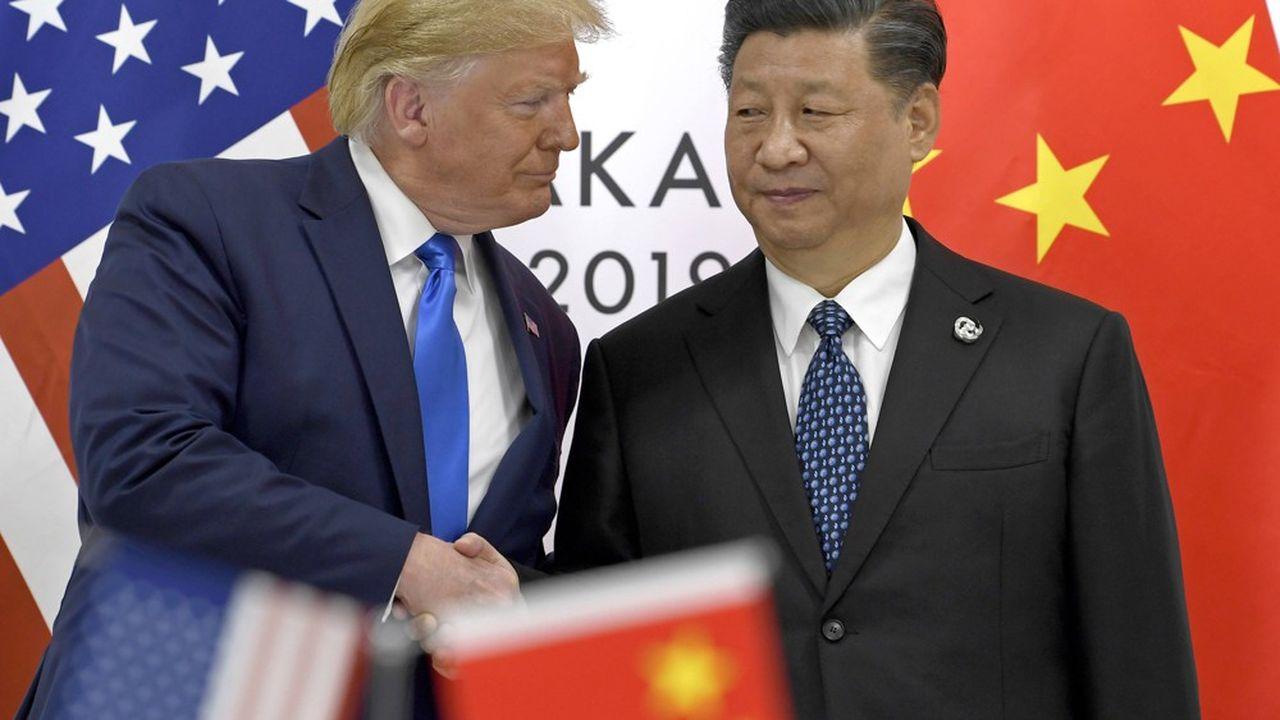 Le président des Etats-Unis Donald Trump et le président chinois Xi Jinping, le 29 juin, au G20 à Osaka (Japon).