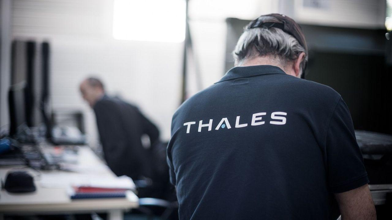 Sur le site Thales de Limours (Essonne), le 15avril.