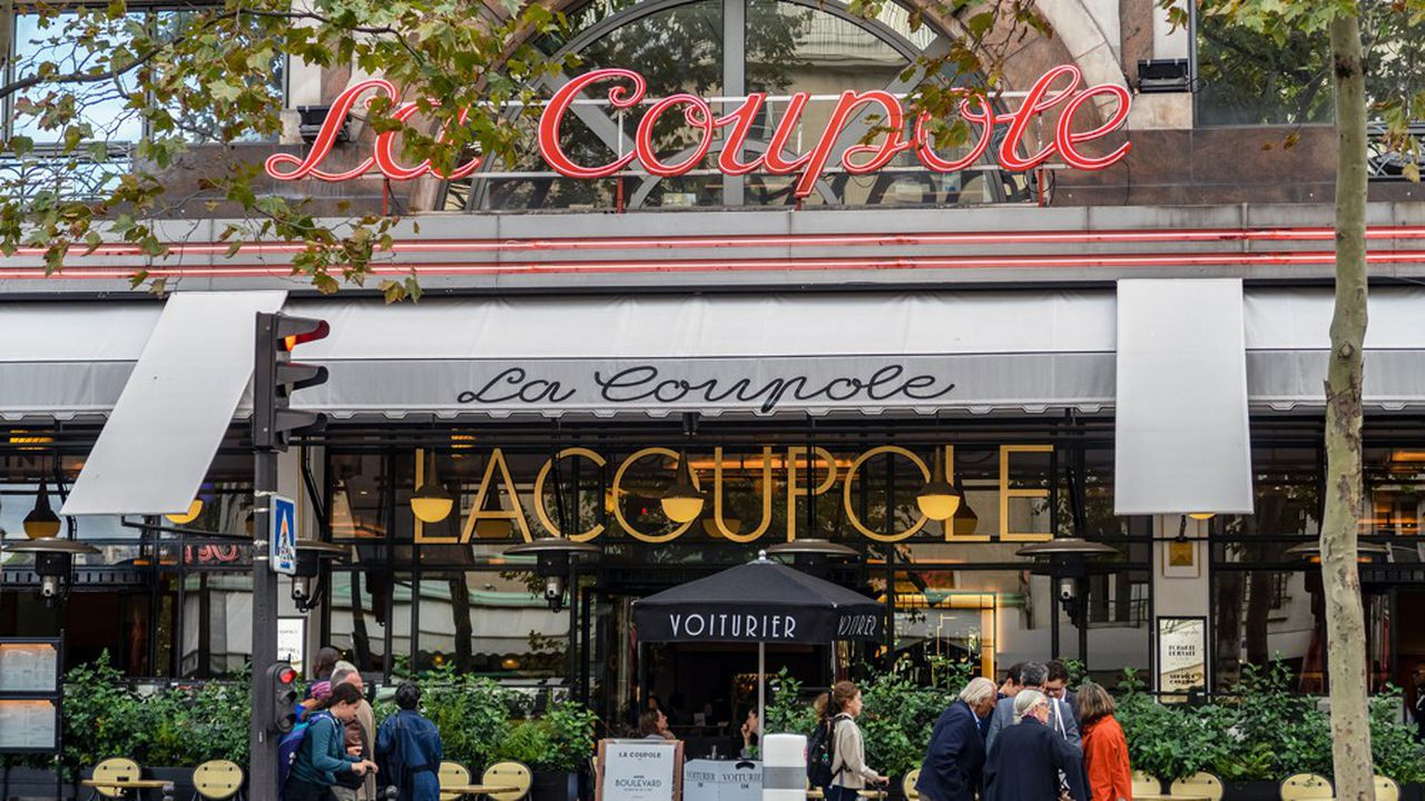 Un restaurant La Coupole, à Paris.