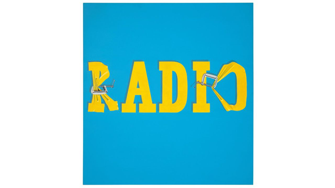 Ed Ruscha. Hurting the Word Radio  1964.Vendu: 52 485 000 dollars