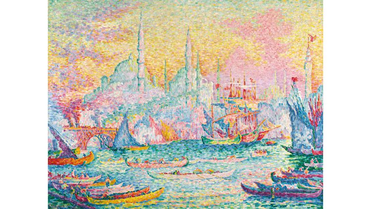 Paul Signac.  La Corne D'or (Constantinople). 1907. Estimation 14/18 millions de dollars, vendu 16 210 000 dollars