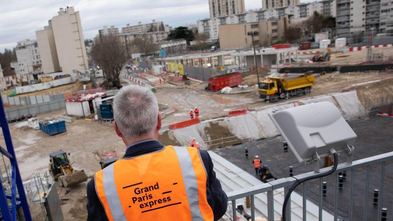 Le chantier du métro Grand Paris, ici à Bagneux, avance mais ne peut plus prendre de retard.