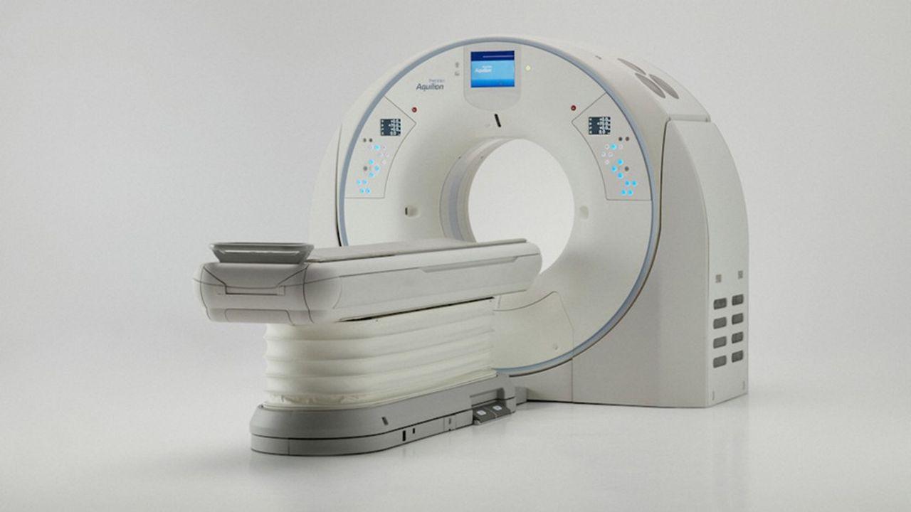 Grâce au module de «deep learning», appliqué à la reconstruction d'images qui est embarqué sur cette machine, le médecin obtient une image d'excellente résolution sans augmentation de la dose d'irradiation pour le patient