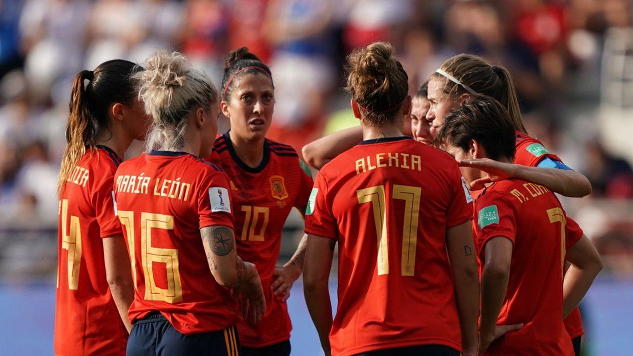 Les joueuses de l'équipe d'Espagne durant la Coupe du monde 2019.
