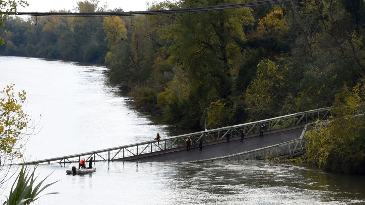 Inauguré en 1935, le pont avait été inspecté en 2017 par le département de la Haute-Garonne, qui n'avait rien trouvé d'anormal.