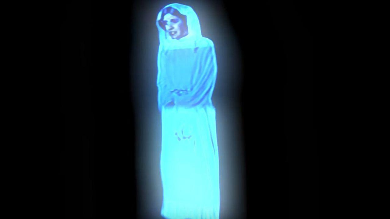 La princesse Leia appelant Obi-Wan Kenobi au secours grâce à un hologramme est une scène culte de «Star Wars».