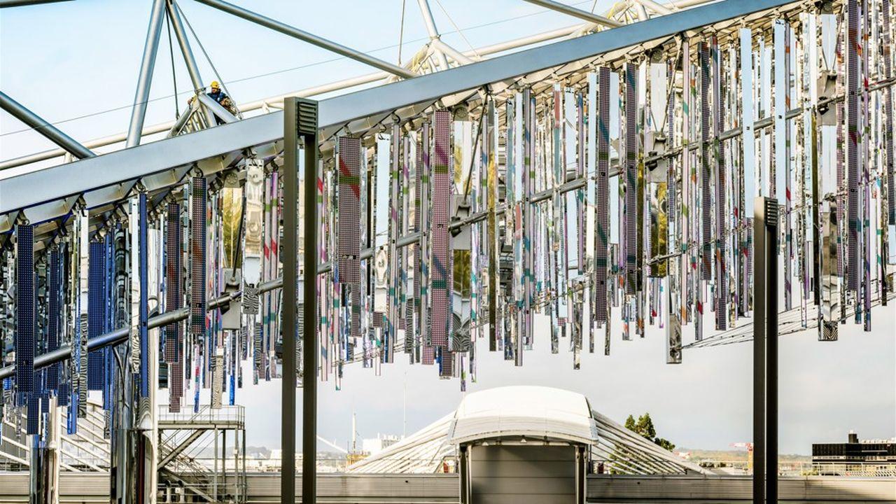 L'auvent lumineux du Pavillon 6 signé Jean Nouvel.