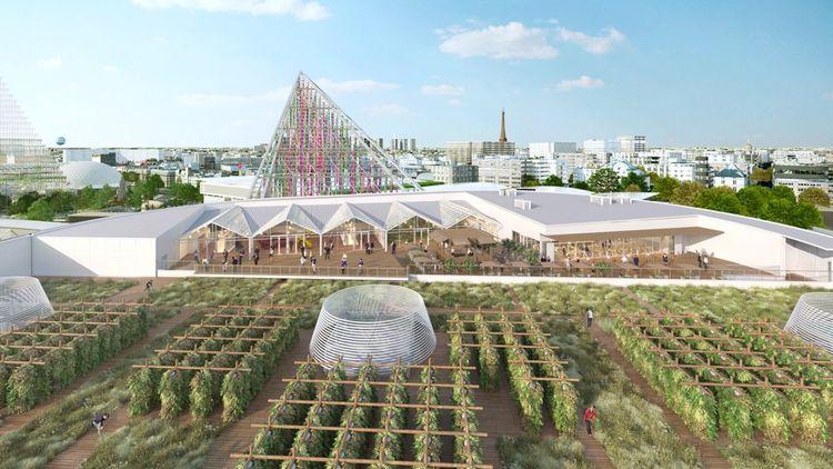 La plus grande ferme urbaine d'Europe, porte de Versailles.