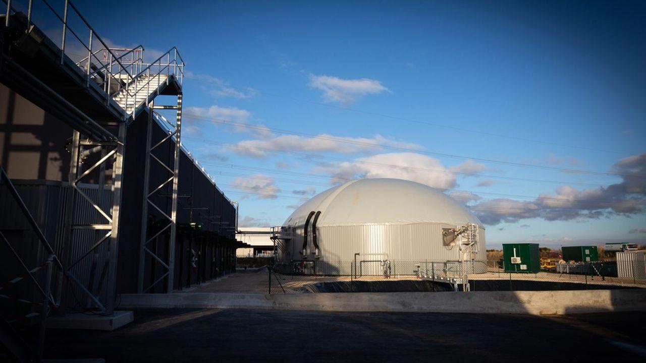 Un site de production de biogaz en France.